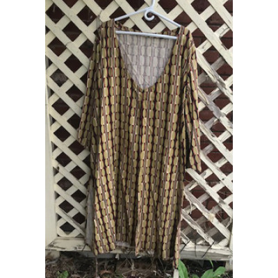 Ghawazee Coat - Size 20 - Gold Brown Black